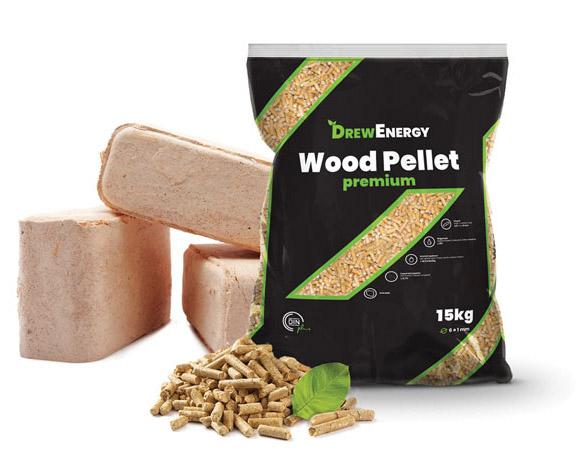 Drew Energy wood pellets and briquette